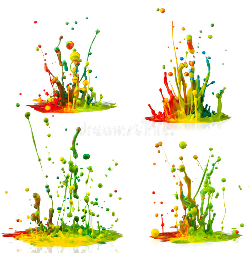 Buntes Farbenspritzen stockfotografie