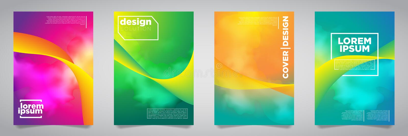 Buntes futuristisches unbedeutendes Abdeckungs-Design Abbildung des Vektor EPS10 stock abbildung