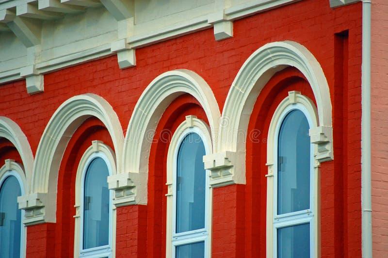 Buntes Gebäude lizenzfreies stockbild