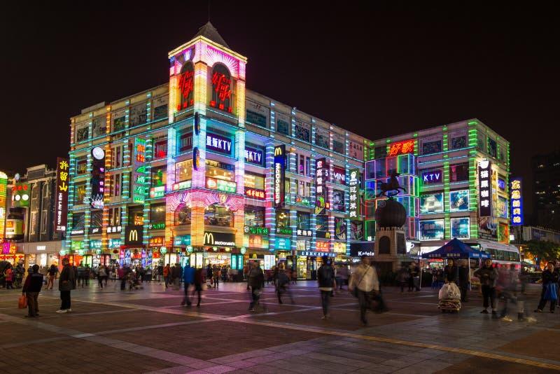 Buntes Gebäude in China stockfotos