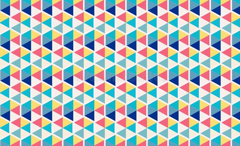 Buntes geometrisches Dreieckmuster-Tapetenwandgemälde Abstraktes Hintergrundmosaik lizenzfreie abbildung