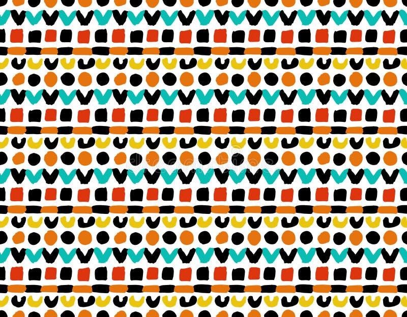 Buntes geometrisches gemaltes Muster vektor abbildung