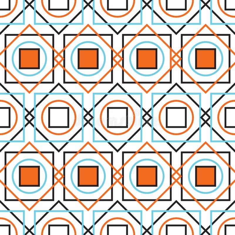 Buntes geometrisches nahtloses Muster vektor abbildung