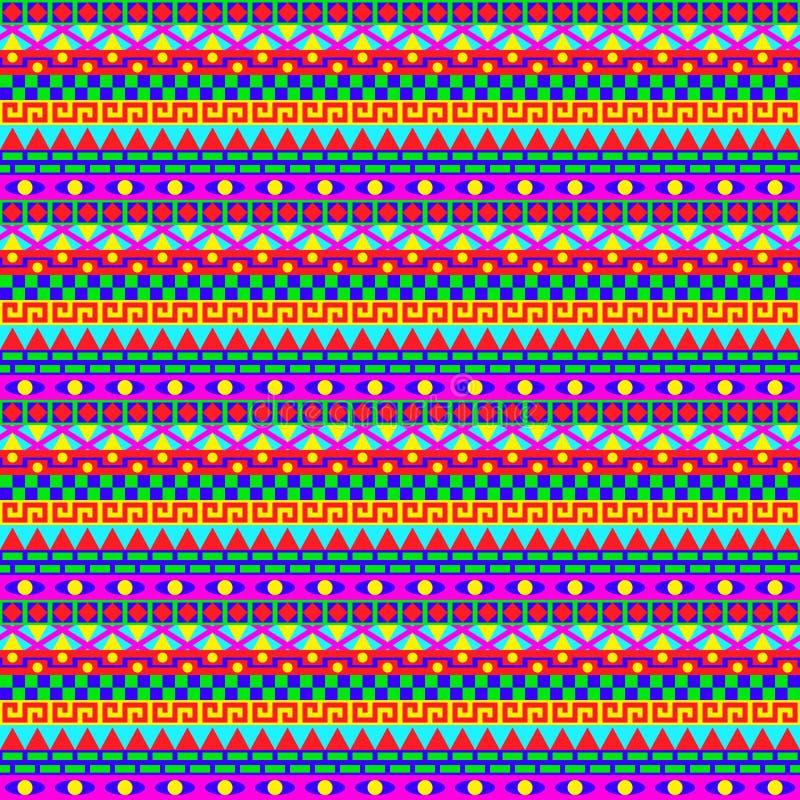 Buntes geometrisches Streifen-Muster lizenzfreie abbildung