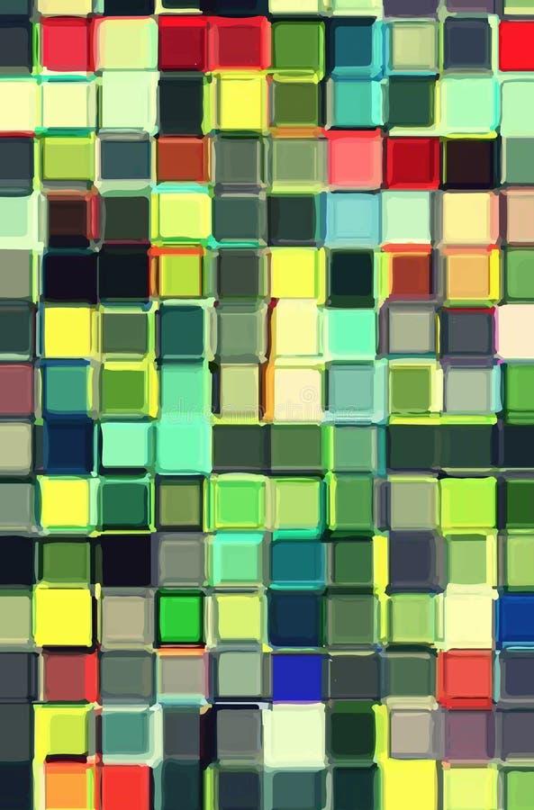 Buntes Glasmosaik stockbilder
