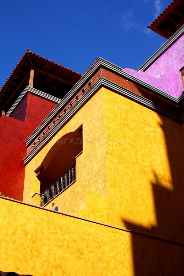 Buntes Haus in der mexikanischen Art stockfotos