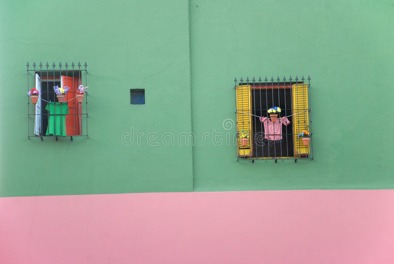 Buntes Haus im La Boca - Buenos Aires lizenzfreies stockfoto