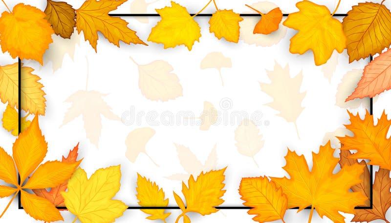 Buntes Herbstblattfeld Auch im corel abgehobenen Betrag stock abbildung
