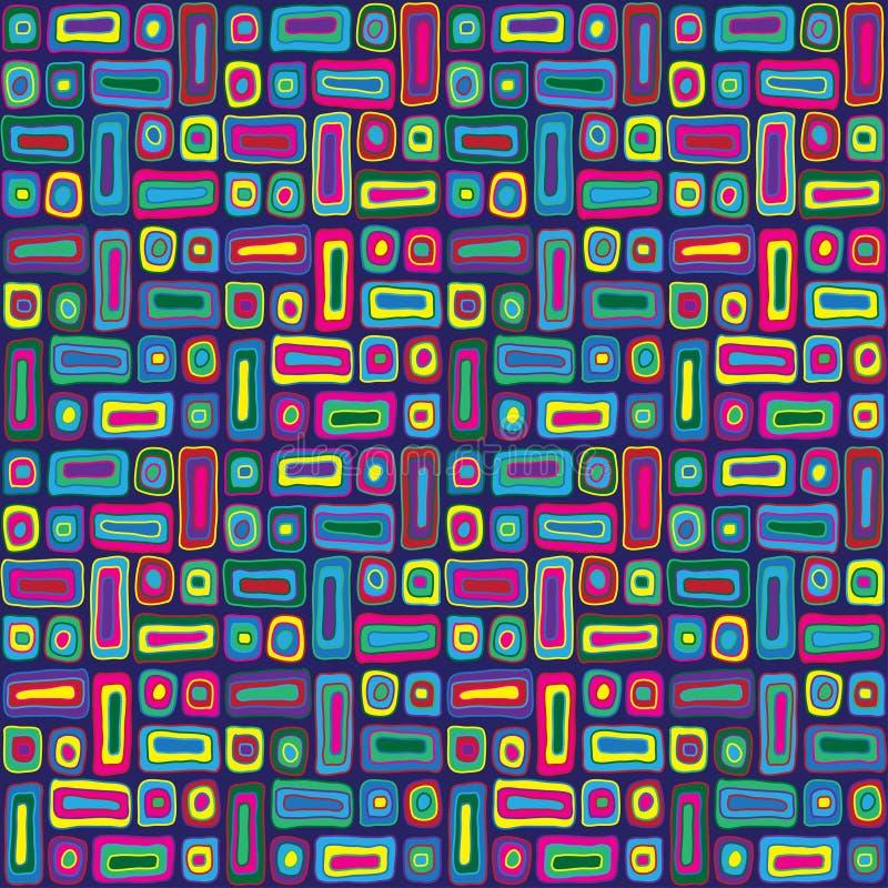 Buntes Hippie-Muster lizenzfreie abbildung