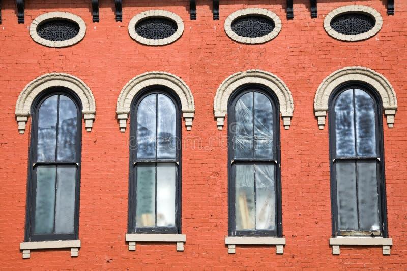 Buntes historisches Gebäude in Lexington lizenzfreies stockbild