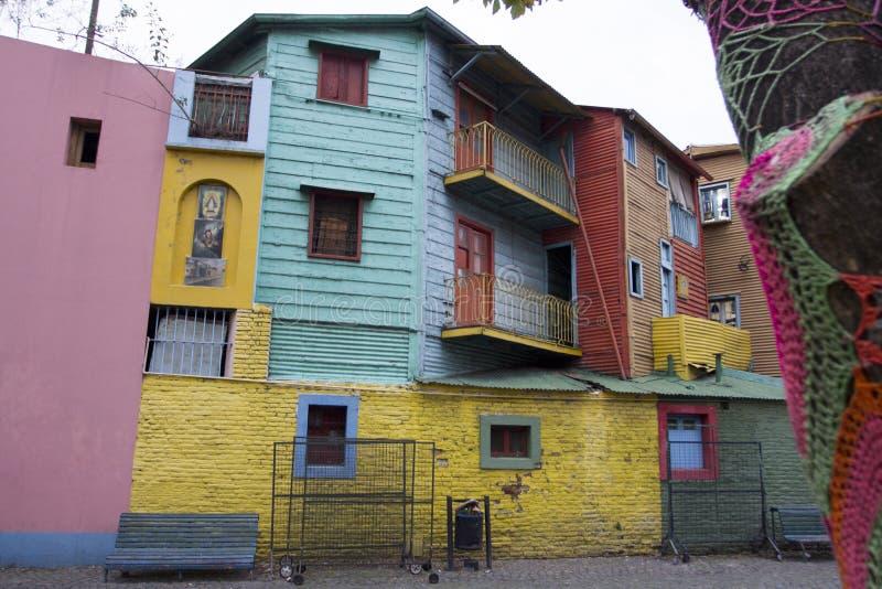 Buntes Holzhaus Caminito-Barrio-La Boca Buenos Aires Argentina Latin Amerika Südamerika nett lizenzfreie stockbilder