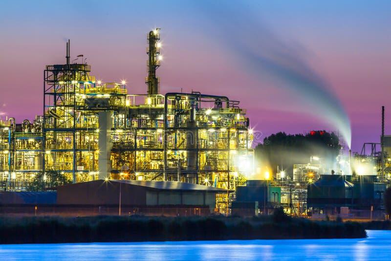 Buntes industrielles chemisches Bereichsdetail stockfotos