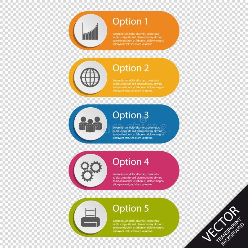 Buntes Infographic-Geschäft knöpft - Diagramm, Welt, Leute, Gänge, Drucker - die Vektor-Illustration -, die auf transparentem Bac vektor abbildung