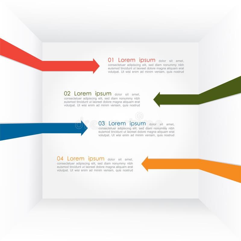 Buntes infographics Pfeile der unterschiedlichen Art. Vektor vektor abbildung