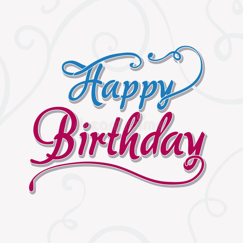 Buntes Kartendesign alles Gute zum Geburtstag vektor abbildung