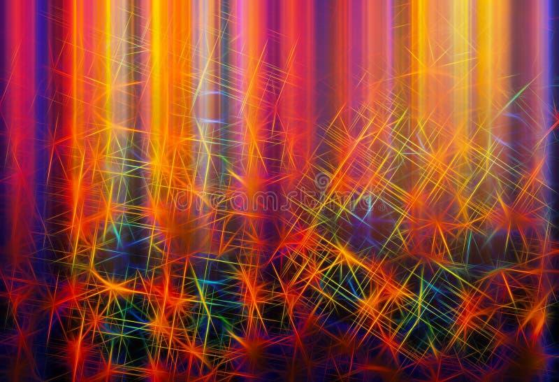 Buntes Labyrinth von Zeilendarstellungshintergrund lizenzfreie abbildung