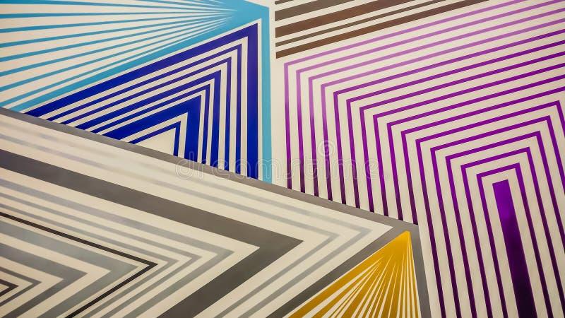 Buntes Labyrinthmuster des purpurroten, blauen Goldes und des Graus vektor abbildung