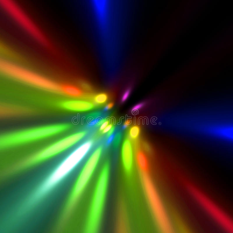 Buntes Leuchte-Unschärfe stock abbildung