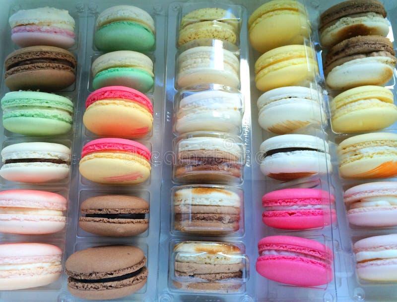 Buntes Macarons stockfoto