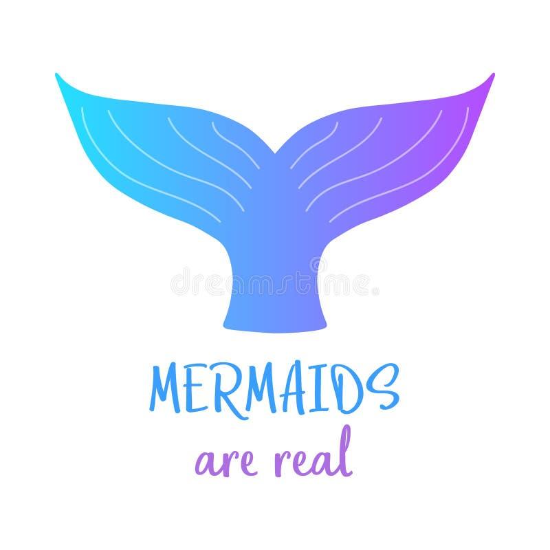 Buntes Meerjungfrauendstück, Meerjungfrauen sind wirklich vektor abbildung