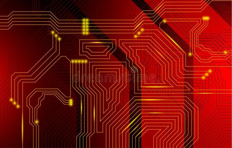 Buntes microscheme Design Vektormikrochip lizenzfreie stockbilder