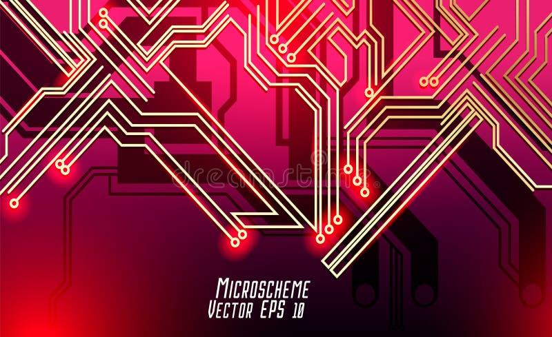 Buntes microscheme Design Vektormikrochip lizenzfreie stockfotografie