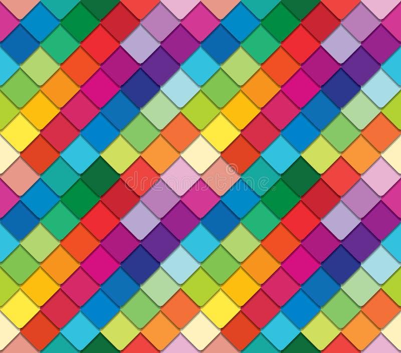 Buntes Mosaikspektrummuster Das herausgeschnittene Papier bessert Hintergrund aus stock abbildung
