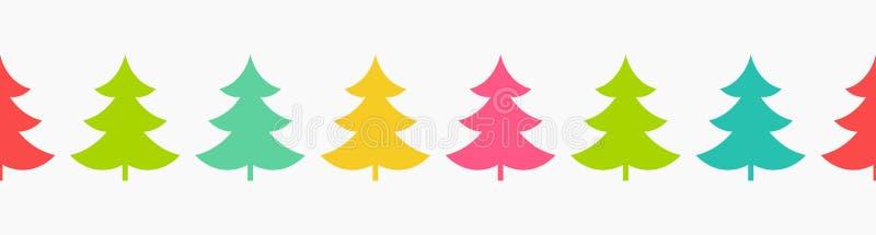 Buntes Muster der Weihnachtsbäume lizenzfreie abbildung