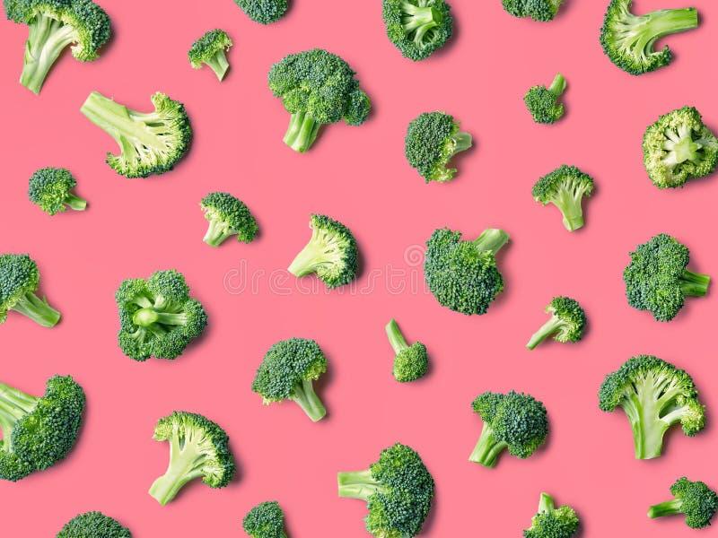 Buntes Muster des frischen Brokkolis stockfotos