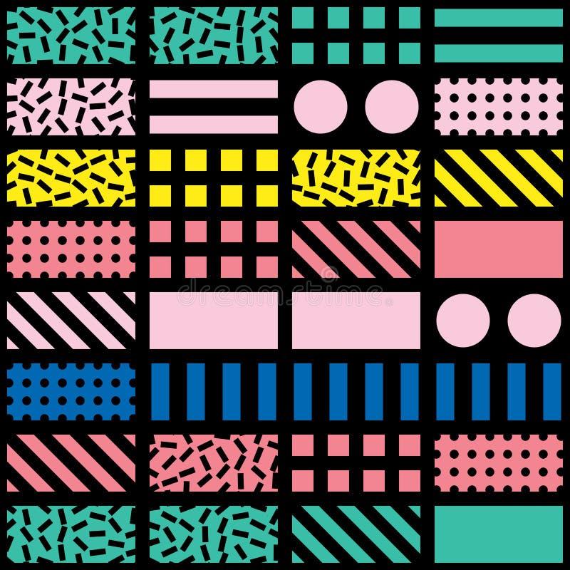Download Buntes Mutiges Helles Nahtloses Muster Stock Abbildung - Illustration von zeile, verzierung: 90225534