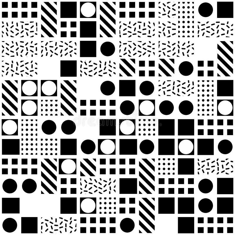 Download Buntes Mutiges Helles Nahtloses Muster Stock Abbildung - Illustration von geburtstag, memphis: 90225574