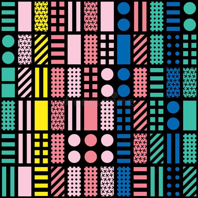 Download Buntes Mutiges Helles Nahtloses Muster Stock Abbildung - Illustration von einladung, bunt: 90225705
