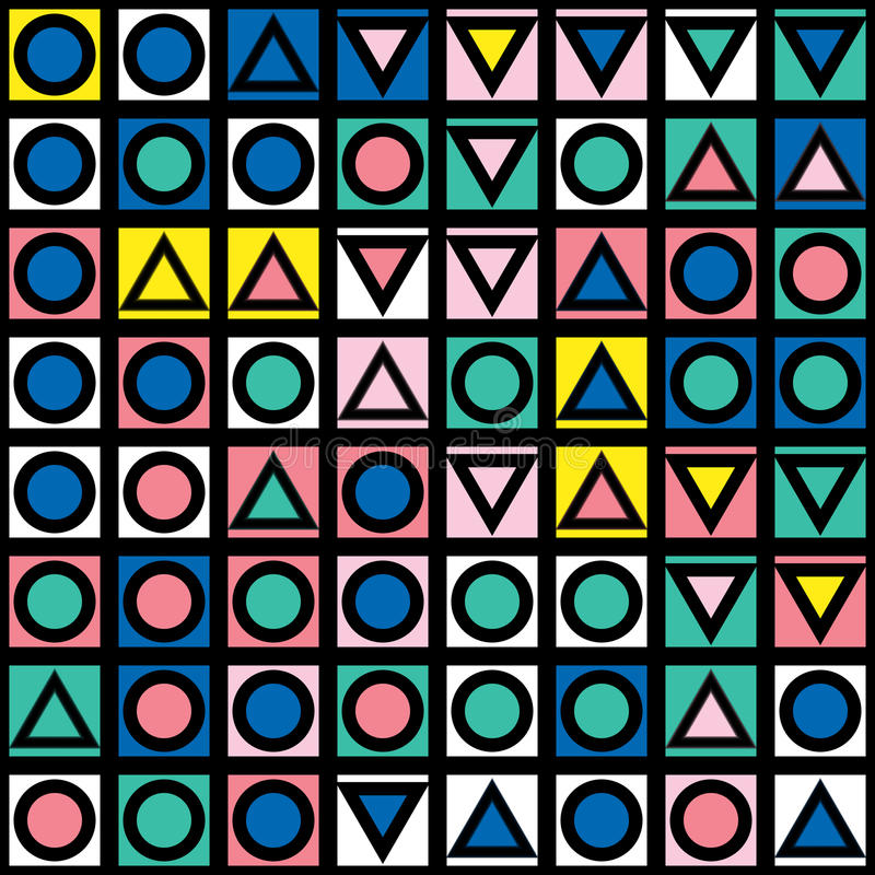 Download Buntes Mutiges Helles Nahtloses Muster Stock Abbildung - Illustration von schwarzes, abdeckung: 90234701