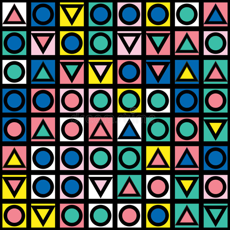 Download Buntes Mutiges Helles Nahtloses Muster Stock Abbildung - Illustration von geometrie, graphik: 90235509