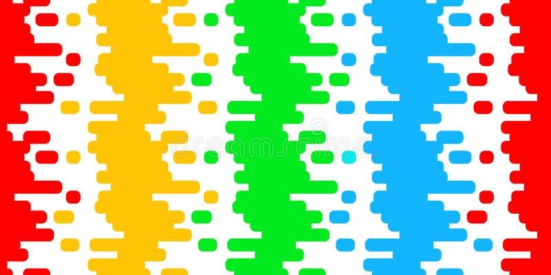 Buntes nahtloses Farben-Strichmuster vektor abbildung