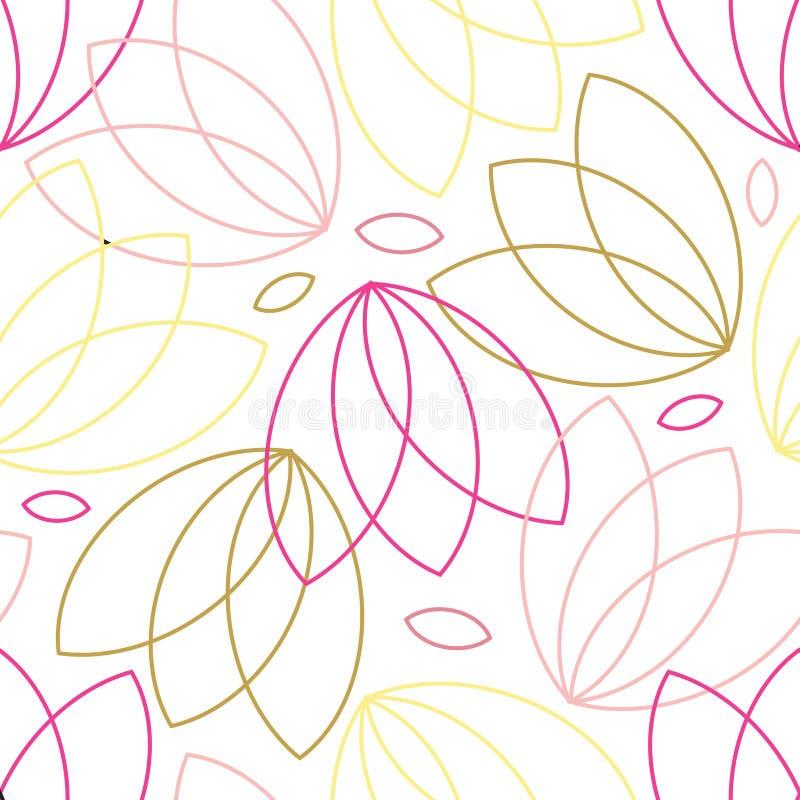 Buntes nahtloses mit Blumenmuster vektor abbildung
