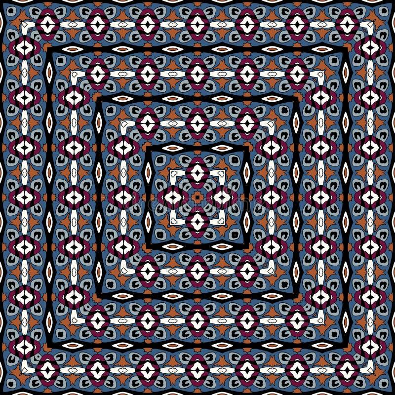 Buntes nahtloses Muster Es kann für Leistung der Planungsarbeit notwendig sein Quadratische Beschaffenheit stock abbildung