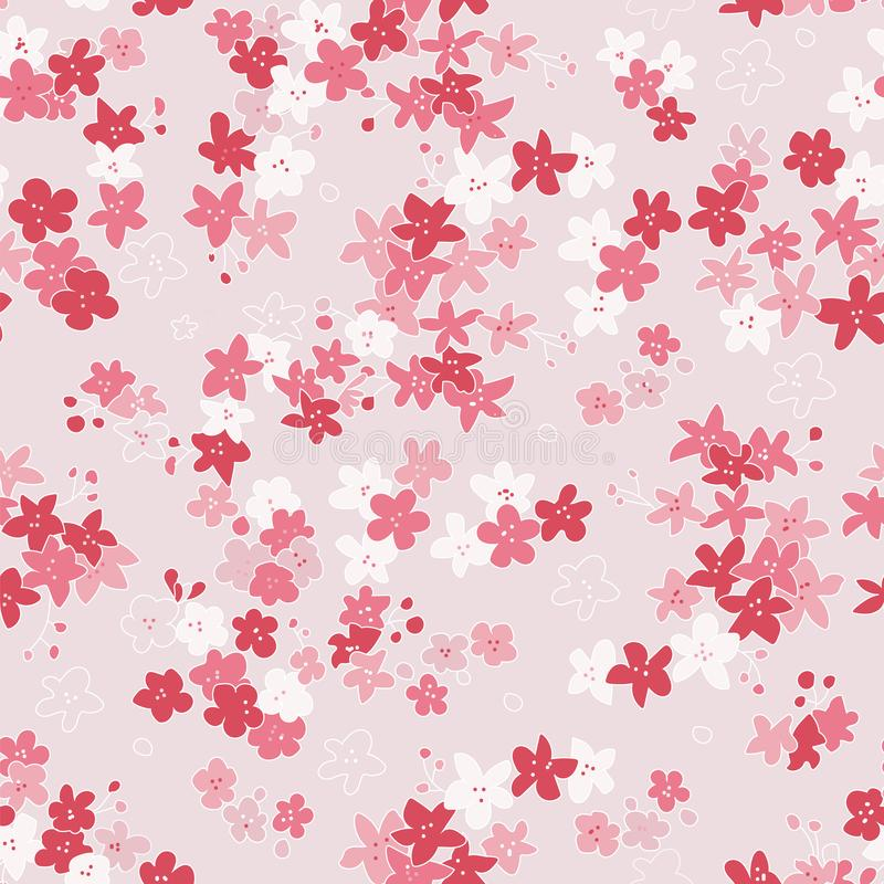 Buntes nahtloses Muster mit Blumen für Kinder, Babys, Kinder stock abbildung