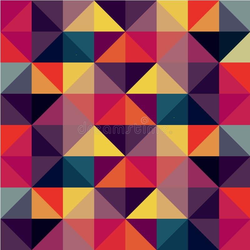 Buntes nahtloses Muster mit Dreiecken stock abbildung