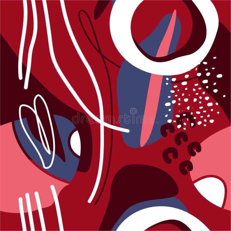 Buntes nahtloses Muster mit Stellen Dekorativer farbiger abstrakter Hintergrund vektor abbildung