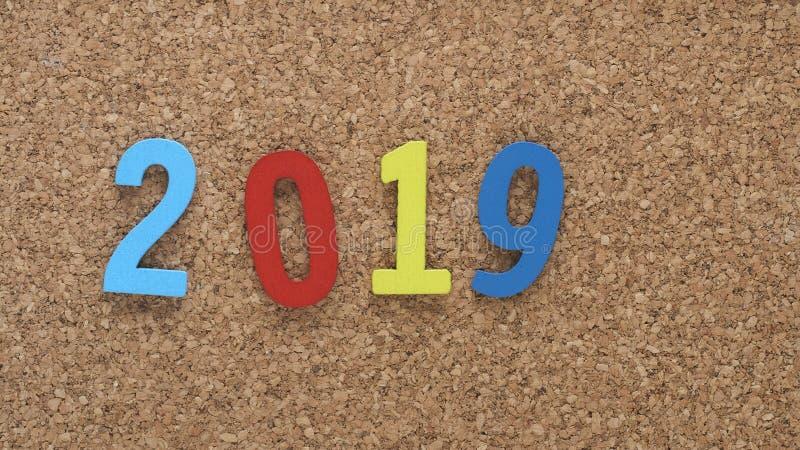 Buntes neues Jahr 2019 stockfotos