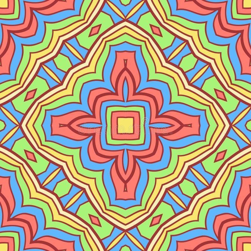 Buntes orientalisches Muster lizenzfreie abbildung