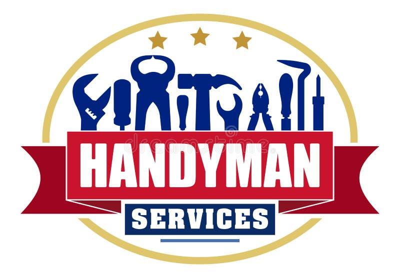 Buntes ovales Vektordesign der Heimwerkerservices für Ihr Logo oder e lizenzfreie abbildung