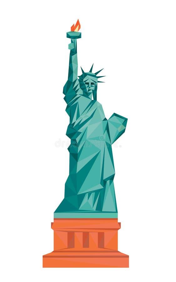 Buntes polygonales Freiheitsstatue lizenzfreie abbildung