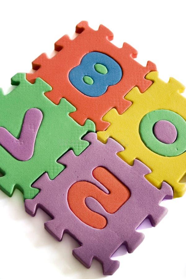 Buntes Puzzlespiel stockbild