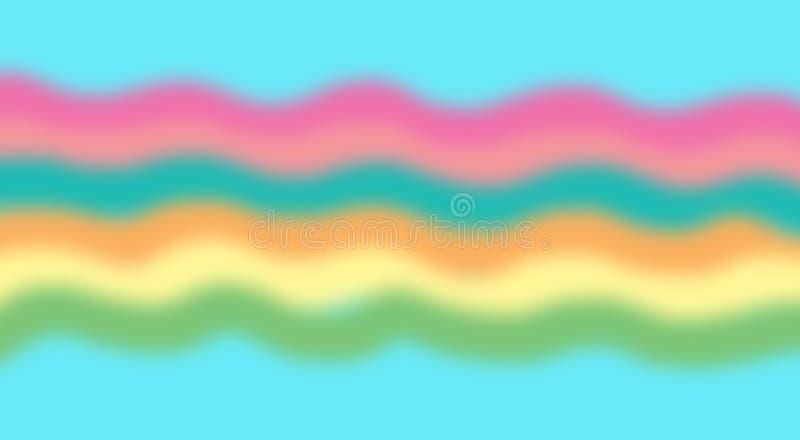 Buntes seawave undeutlich auf blauem Hintergrund lizenzfreie stockbilder