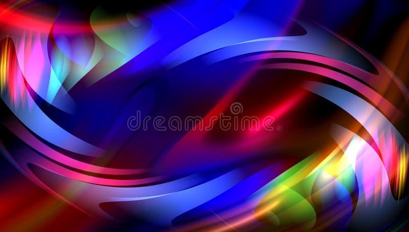 Buntes Unschärfezusammenfassungshintergrund-Vektordesign, bunter unscharfer schattierter Hintergrund, klare Farbvektorillustratio lizenzfreie stockfotos