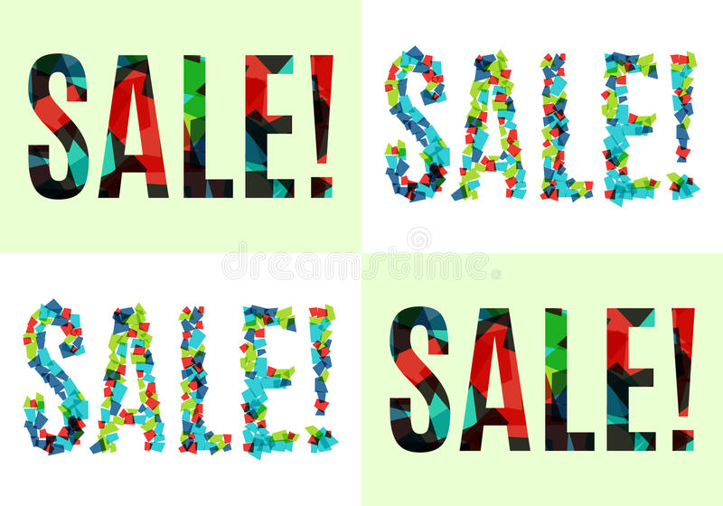 Download Buntes Verkaufsfahnen-Schablonendesign Auch Im Corel Abgehobenen Betrag Vektor Abbildung - Illustration von freiheit, hintergrund: 90229329