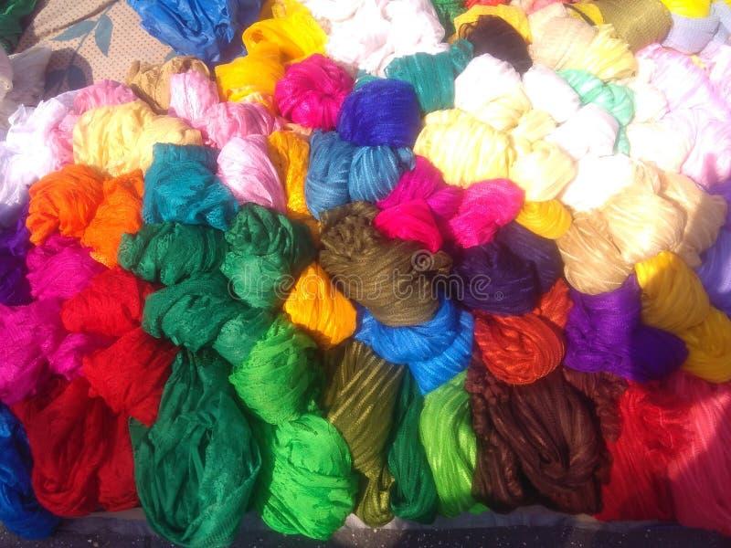 Buntes woolen stockfoto