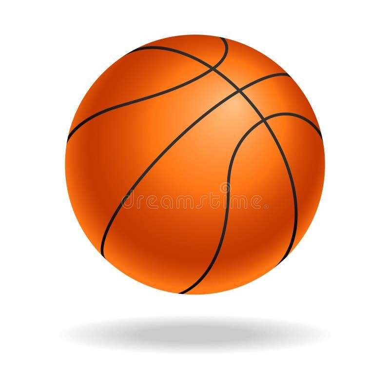 Buntes Zeichen des Basketballballs vektor abbildung